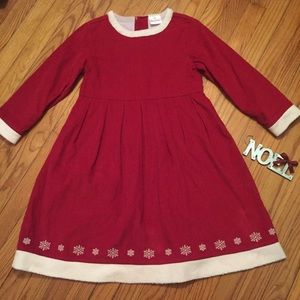 Hanna Andersson Red Corduroy Holiday Dress
